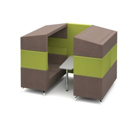 Alban Private Office Meeting Booths with Canopy