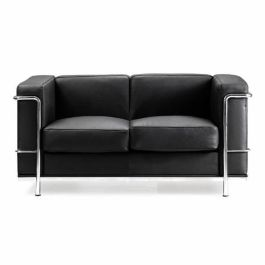 Leather Faced Two Seater Sofa