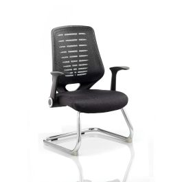 Relay Cantilever Chair with  Airmesh Seat and Arms