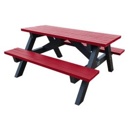 Adult Recycled Plastic Outdoor Picnic Table - Brassington