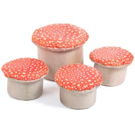 Learn About Nature Small and Large Toad Stools - Pack of 4