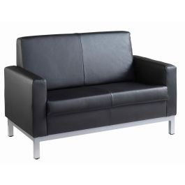Helsinki Square Back Reception 2 Seater Office Sofa