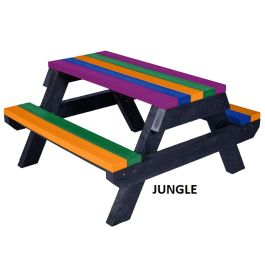 Infant Children's Recycled Plastic Outdoor Picnic Table - Macaw