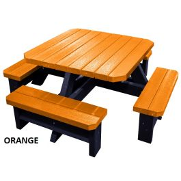 Children's Recycled Plastic Outdoor Picnic Table - Parrot