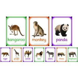 A4 Outdoor Learning Boards, Wild Animals