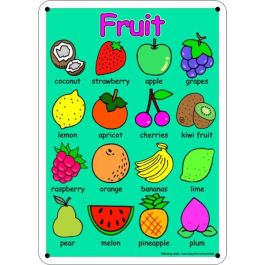 Outdoor Learning Board illustrated fruit