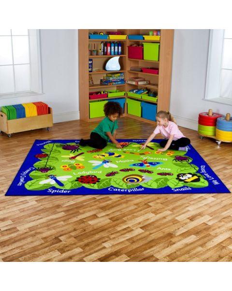 Back to Nature Mini Beasts Classroom Carpet