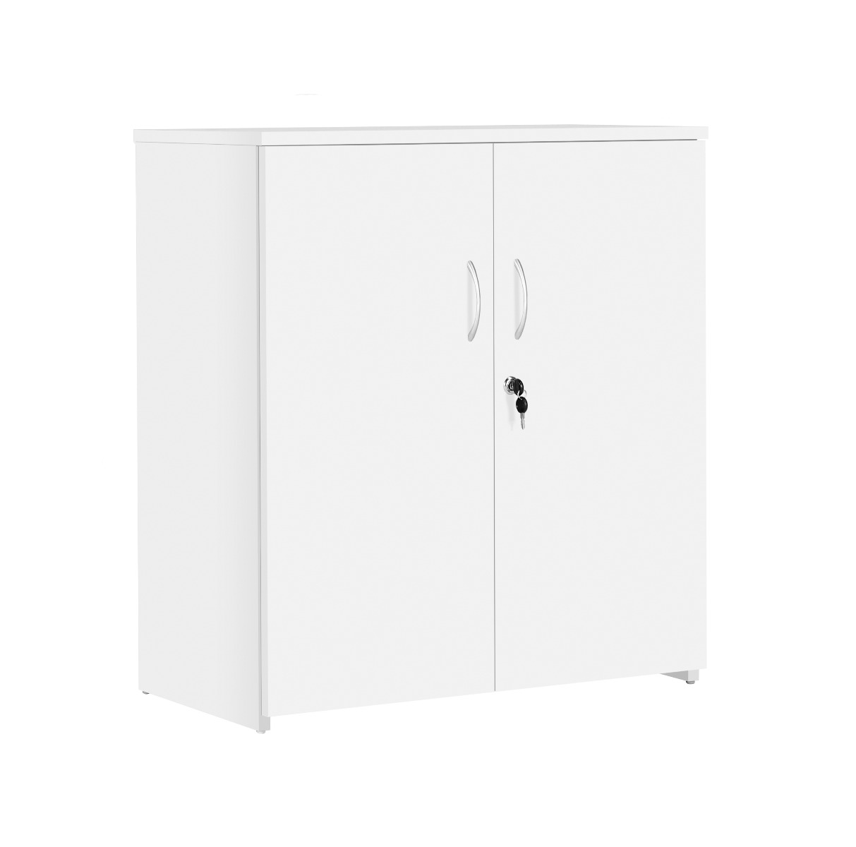 TC Office Next Day Eco 18 MFC White Office Cupboard with Shelf
