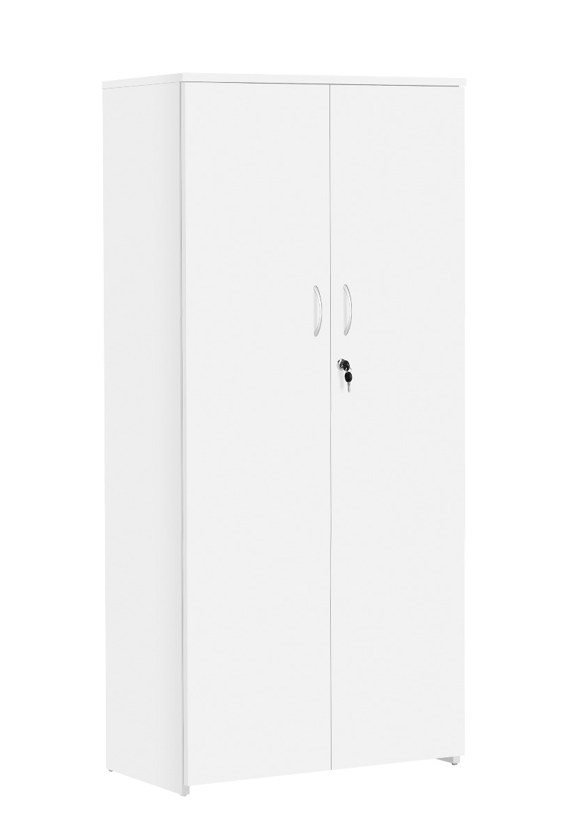 TC Office Next Day Eco 18 Premium White Office Cupboard-1600mm