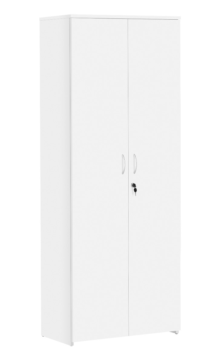 TC Office Next Day Eco 18 Premium White Office Cupboard-2000mm