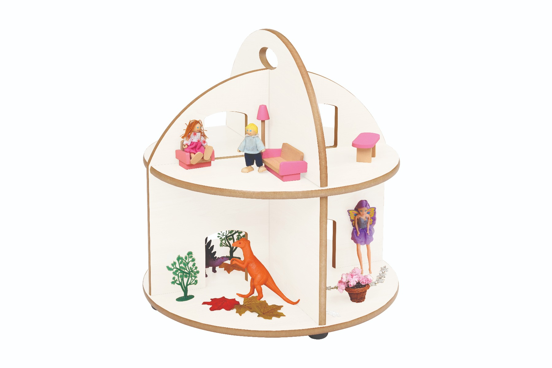 Twoey Toys Small Round World Play and Storage Stand