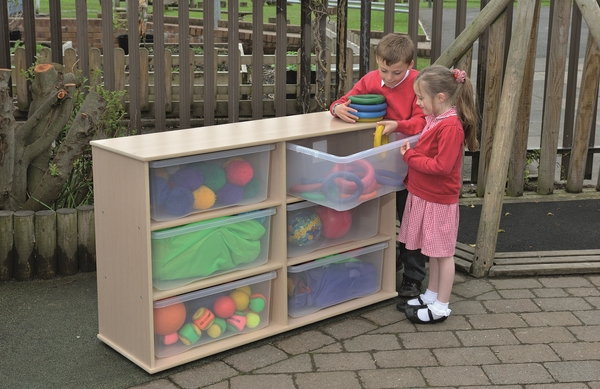 Twoey Toys Leave Me Outdoors Large Storage 6 Tray Unit with Clear Trays