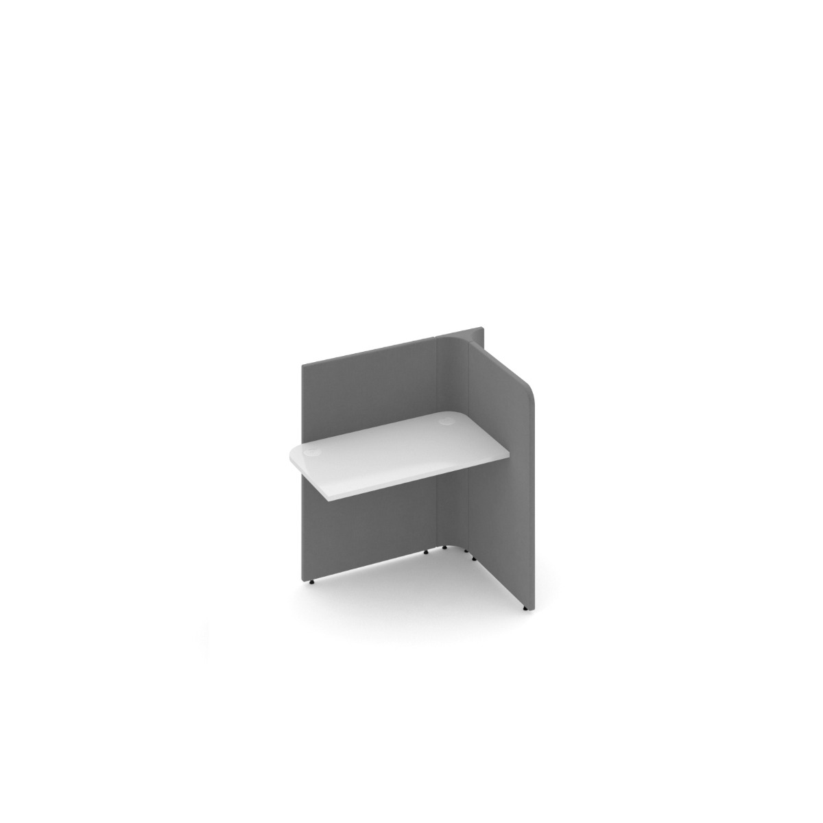 Dams Soli Squares add-on Low Screen Office Workstation