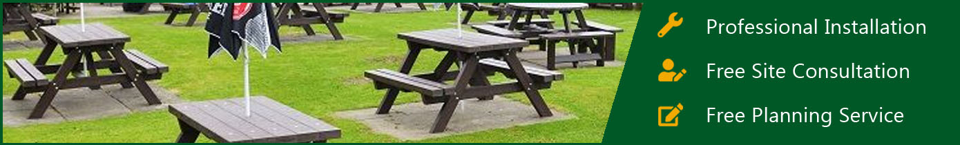 Adult's Recycled Plastic Picnic Furniture
